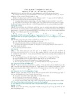 tổng hợp các bài tập di truyền biến dị trong các đề luyện thi THPT quốc gia môn sinh