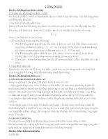 ĐỀ CƯƠNG CÔNG NGHỆ HK II LỚP 8