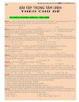 Bài tập di truyền trọng tâm luyện thi THPT Quốc gia môn Sinh học