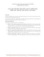 Tài liệu hướng dẫn ôn tập và kiểm tra môn kỹ thuật xây dựng văn bản
