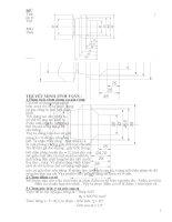 Tính toán và thiết kế dao tiện định hình để gia công chi tiết định hình