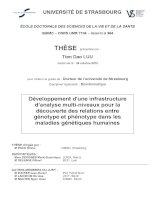 Développement dune infrastructure danalyse multi niveaux pour la découverte des relations entre génotype et phénotype dans les maladies génétiques humaines
