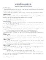 CHUYÊN ĐỀ BIẾN DỊ BỒI DƯỠNG HSG SINH học 9
