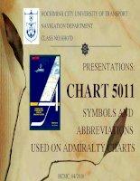 BÀI TẬP THUYẾT TRÌNH VỀ CHART 5011 (SYMBOLS AND  ABBREVIATIONS  USED ON ADMIRALTY CHARTS)
