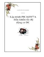 Lập trình PIC16F877A điều khiển tốc độ động cơ DC