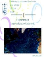 THUYẾT TRÌNH TRÊN lớp PHÉP CHIẾU hải đồ GNOMONIC