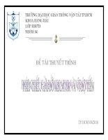 THUYẾT TRÌNH TRÊN lớp PHÉP CHIẾU hải đồ MECATOR