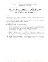 Tài liệu hướng dẫn ôn tập và kiểm tra môn thị trường chứng khoán