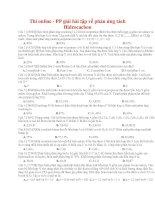 13 thi online   PP giải bài tập về phản ứng tách hidrocacbon