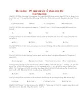 11 thi online   PP giải bài tập về phản ứng thế hidrocacbon