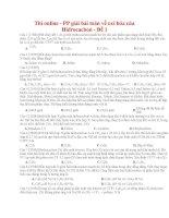18 thi online   PP giải bài toán về oxi hóa của hidrocacbon   đề 1