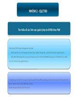 slide tìm hiểu về quản lý dự án theo PMI