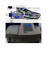 Đề tài tìm HIỂU cấu tạo máy QUANG PHỔ UV VIS