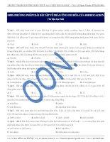 M018. PHƯƠNG PHÁP GIẢI BÀI TẬP VỀ PHẢN ỨNG OXI HÓA CỦA HIĐROCACBON (Tư liệu học bài)
