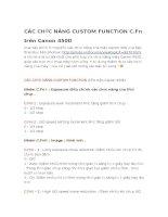 CÁC CHỨC NĂNG CUSTOM FUNCTION  TRÊN CANON 450D