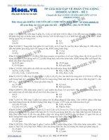 PHƯƠNG PHÁP GIẢI BÀI TẬP VỀ PHẢN ỨNG CỘNG CỦA HIDROCACBON - ĐỀ 2
