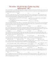 15 thi online   PP giải bài tập về phản ứng cộng hidrocacbon   đề 1