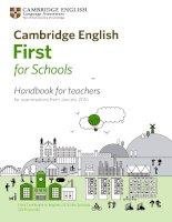 cambridge english first for schools handbook 2015