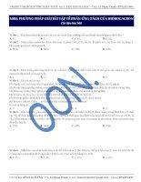 M016. PHƯƠNG PHÁP GIẢI BÀI TẬP VỀ PHẢN ỨNG TÁCH CỦA HIĐROCACBON (Tư liệu học bài)