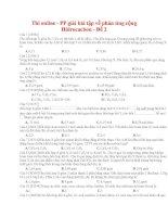 16 thi online   PP giải bài tập về phản ứng cộng hidrocacbon   đề 2