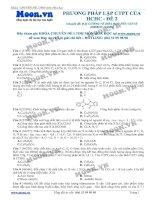 PHƯƠNG PHÁP LẬP CTPT CỦA HCHC -  ĐỀ 2