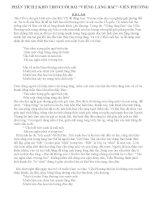 Phân tích 2 khổ cuối bài Viếng lăng Bác Viễn Phương