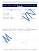 M015. PHƯƠNG PHÁP GIẢI BÀI TẬP VỀ PHẢN ỨNG THẾ CỦA HIĐROCACBON (Tư liệu học bài)