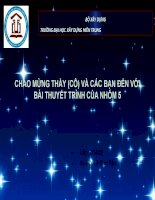 CHÀO MỪNG THẦY (cô) và các bạn đến với bài THUYẾT TRÌNH NHÓM 5 d14x2