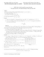 Đề thi tuyển sinh lớp 10 môn toán trường KHTN hà nội 2013   2015(có đáp án)
