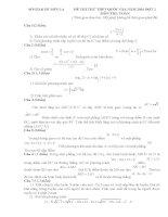 đề THI toán  THPT QUỐC GIA(mới)