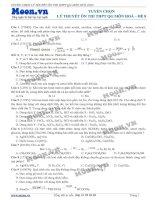 1500 câu lý thuyết hóa ôn thi đại học