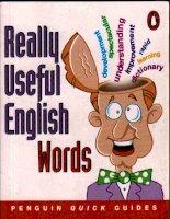 1maule d really useful english words