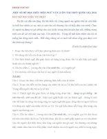 MỘT SỐ ĐỀ ĐỌC HIỂU MÔN NGỮ VĂN 12 ÔN THI THPT QUỐC GIA 2016