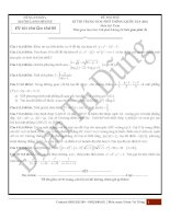 25 đề thi thử toán  tháng 3   có đáp án chi tiết