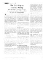Five quick ways to trim your writing