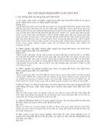 BÀI tập NHẬN ĐỊNH môn LUẬT đất ĐAI  (có đáp án)