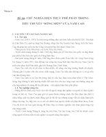 CHỦ NGHĨA HIỆN THỰC PHÊ PHÁN TRONG TIỂU THUYẾT SỐNG MÒN CỦA NAM CAO
