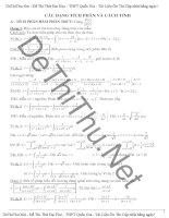 Các phương pháp giải toán tích phân lớp 12