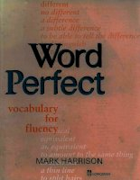 Ebook word perfect   vocabulary for fluency  part 1