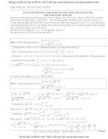Giải phương trình bằng Phương pháp Hàm số ...Hay cho ôn luyện thi đại hoc và học sinh giỏi