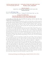 Bài thu hoạch  BDTX  tiểu học MODULE TH 2,12,15,16 chuẩn
