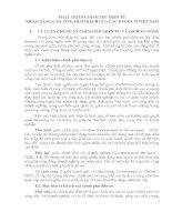 PHÁT TRIỂN CHÍNH PHỦ ĐIỆN TỬ NHẰM NÂNG CAO TÍNH MINH BẠCH CỦA CÁC DỊCH VỤ CÔNG ĐIỆN TỬ Ở VIỆT NAM
