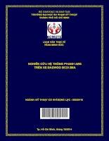 Nghiên cứu hệ thống phanh ABS trên xe DAEWOO BC212MA