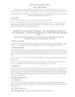 TCVN TINH BỘT VÀ SẢN PHẨM TINH BỘT – XÁC ĐỊNH HÀM LƯỢNG LƯU HUỲNH DIOXIT – PHƯƠNG PHÁP ĐO AXIT VÀ PHƯƠNG PHÁP ĐO ĐỘ ĐỤC