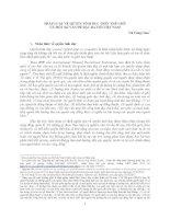 PHÁP LUẬT VỀ QUYỀN TÌNH DỤC TRÊN THẾ GIỚI VÀ MỘT SỐ VẤN ĐỀ ĐẶT RA VỚI VIỆT NAM