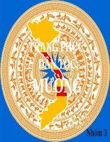 Đề tài trang phục người Mường  đại cương văn hóa Việt Nam