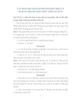 CÁC DẠNG BÀI TOÁN HƯỚNG DẪN PHÂN BIỆT VÀ ÁP DỤNG MỘT SỐ CÔNG THỨC TÍNH XÁC SUẤT