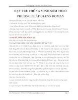 Phát triển tiềm năng của trẻ với phương pháp glenn doman   dạy TRẺ THÔNG MINH sớm THEO PHƯƠNG PHÁP GLENN DOMAN