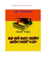Bộ đề đọc hiểu môn ngữ văn ( Full luyện thi đại học )