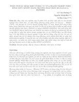 PHÂN TÍCH SỰ KHÁC BIỆT VỀ ĐẦU TƯ CỦA DOANH NGHIỆP THEO HÌNH THỨC SỞ HỮU BẰNG PHƯƠNG PHÁP PHÂN RÃ OAXACA